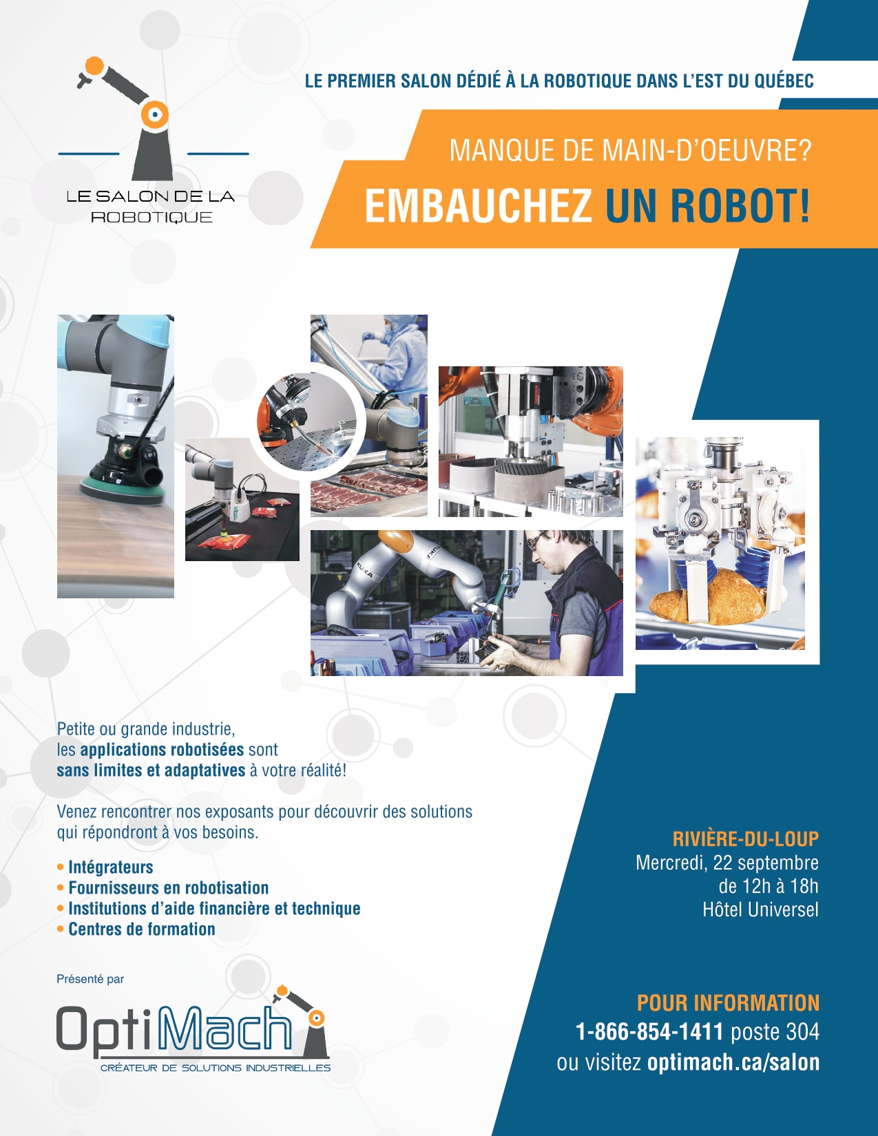 Invitation au Salon de la robotique de Rivière-du-Loup le 22 septembre 2021