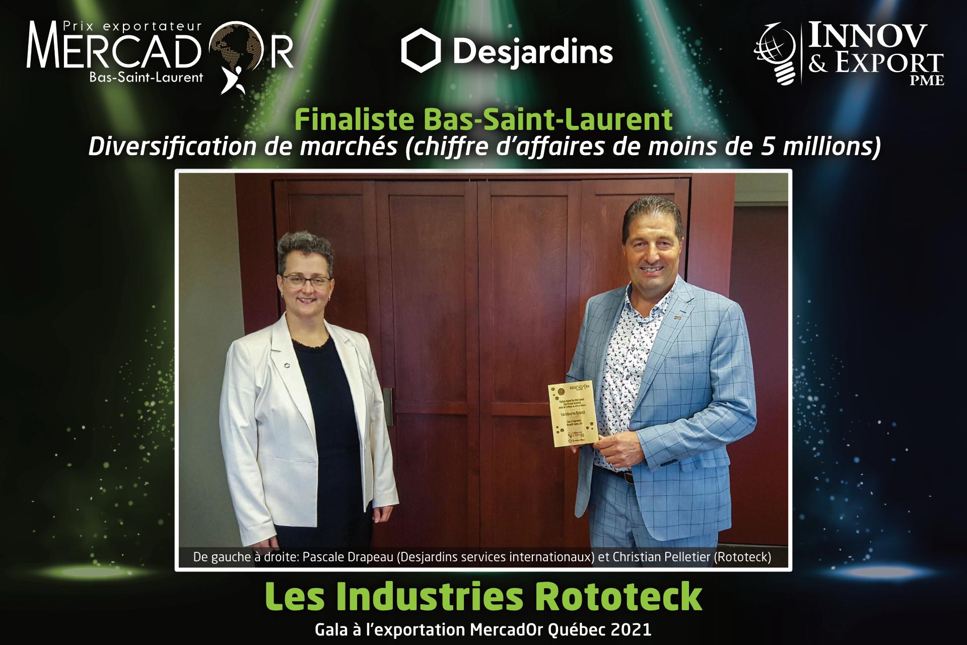 Rototeck lauréat Mercador Québec 2021 région du Bas-Saint-Laurent